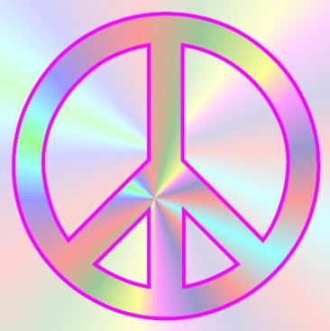 366x367 Peace Sign Clipart Glitter
