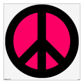 324x324 Pink And Black Peace Signs