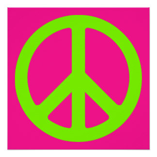 324x324 Pink Peace Sign Posters Zazzle
