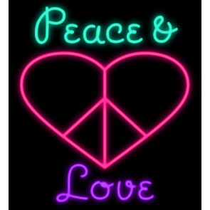 295x295 A Pink Heart With A Peace Sign Inside. Above The Heart It Reads