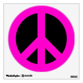 324x324 Black Peace Symbol Wall Decals Amp Wall Stickers Zazzle