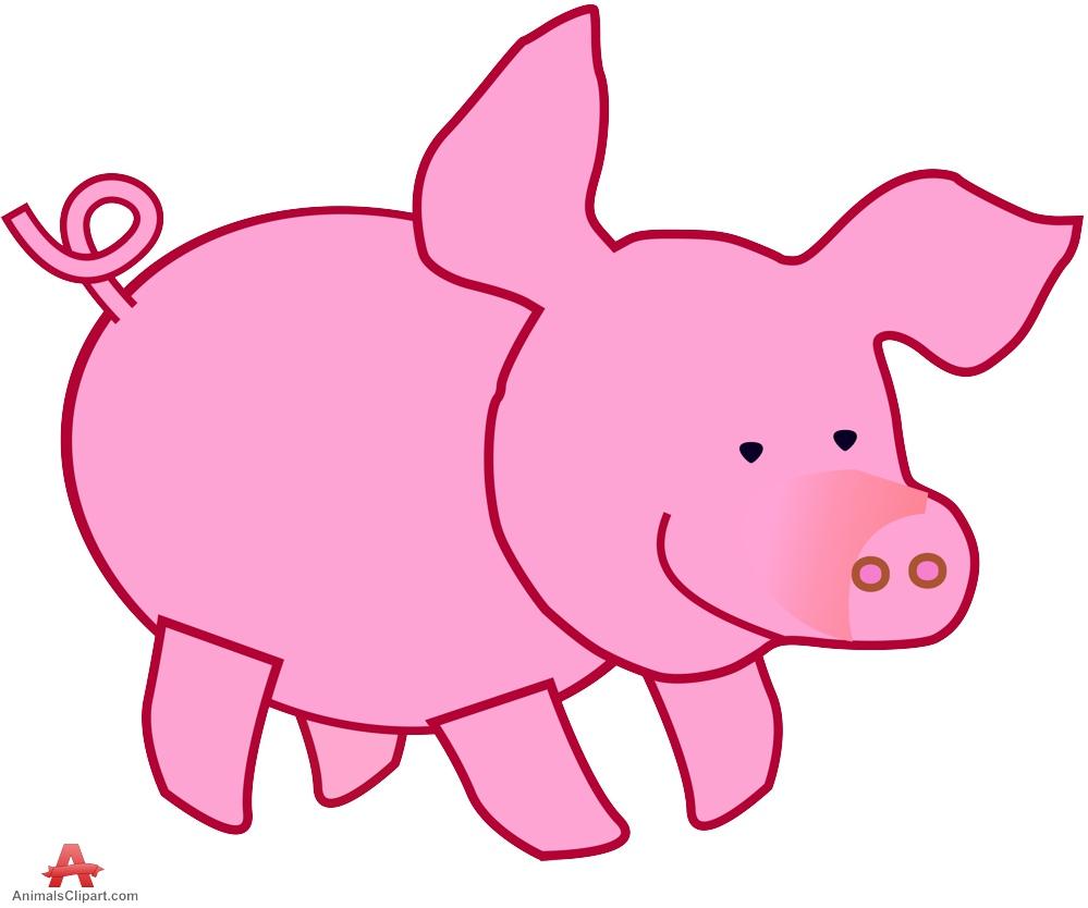 999x834 Cute Little Pig Clipart Free Design