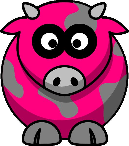 528x598 Hot Pink Pig Clip Art