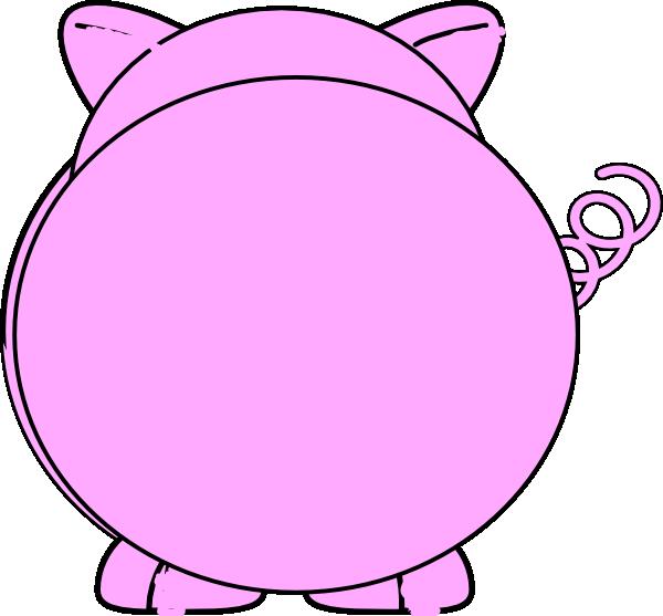 600x557 Back Pig Clip Art
