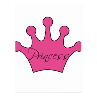 324x324 Custom Pink Princess Crown Postcards Zazzle.ca