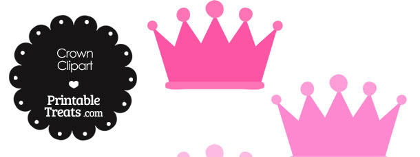 610x229 Pink Crowns Clipart