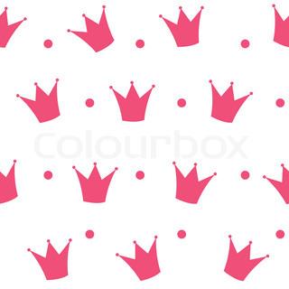 320x320 Pink Princess Crown Frame Vector Illustration. Eps10 Stock