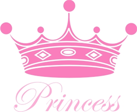 273x223 Princess Crown Machine Embroidery File Crafting Sewing Baby