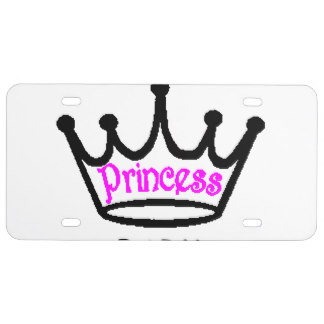 324x324 Princess License Plates Zazzle
