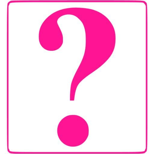 512x512 Deep Pink Question Mark 8 Icon