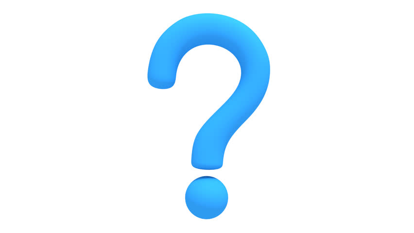 852x480 Animation Of Question Mark Rotation On White Background. Seamless