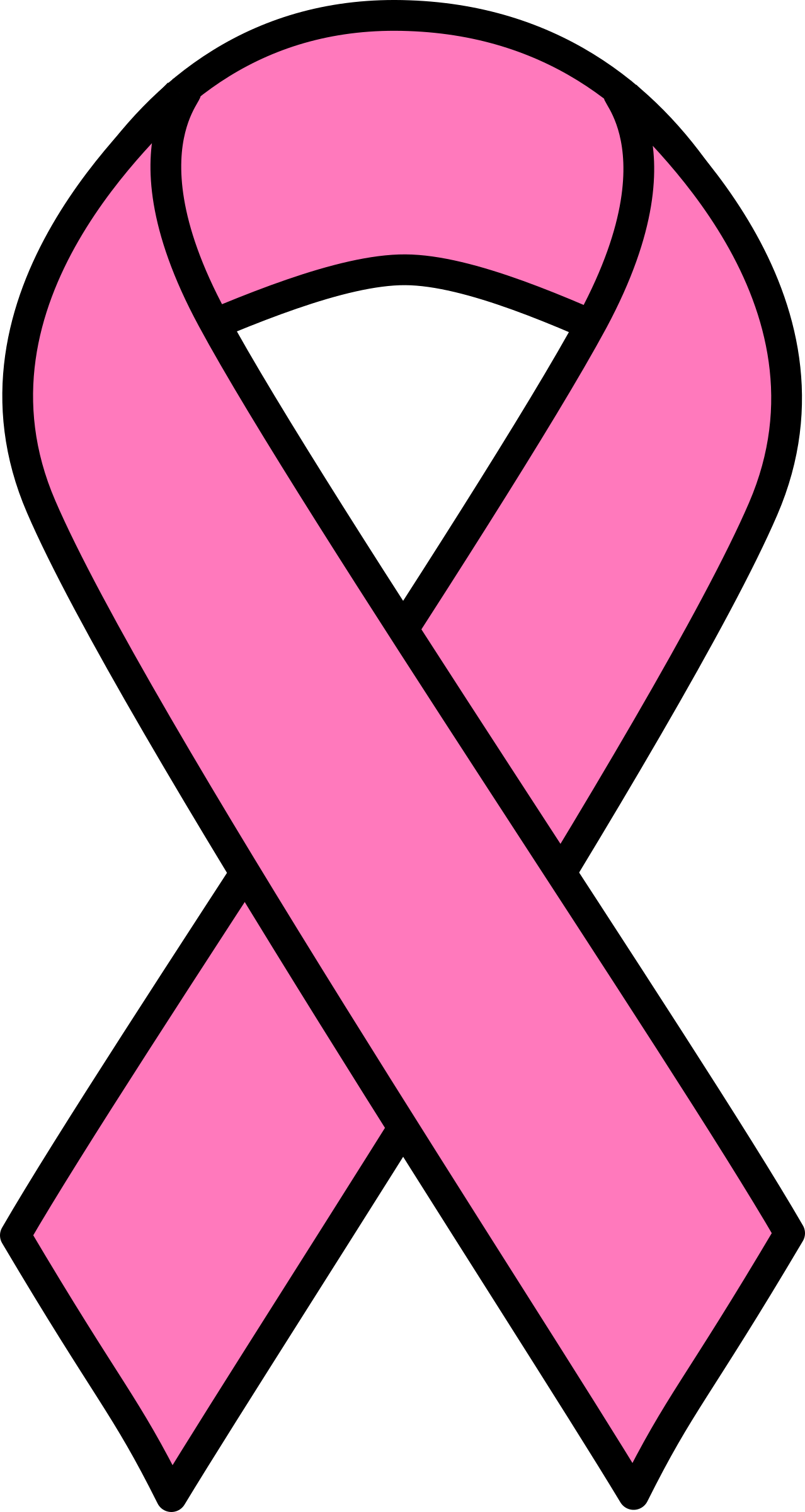 1278x2400 Printable Breast Cancer Ribbon Clipart 3