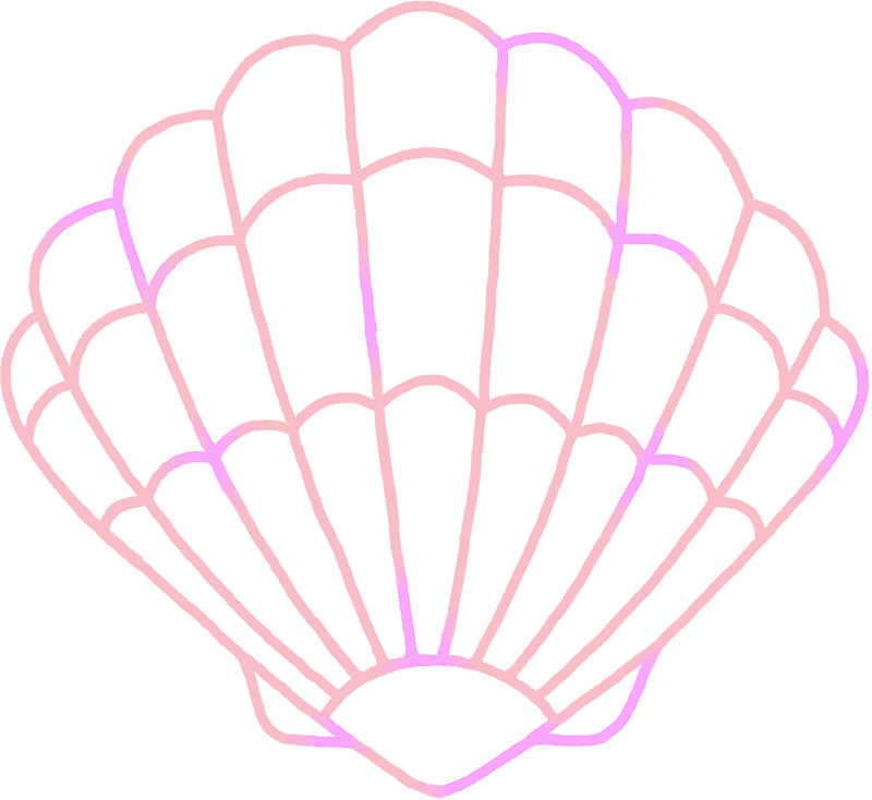 800x734 Pastel Mermaid Seashell Outline Stickers By Aniviel Redbubble