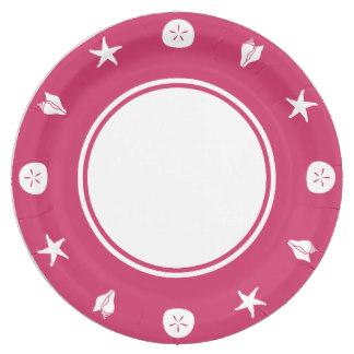 324x324 Pink Seashell Plates Zazzle