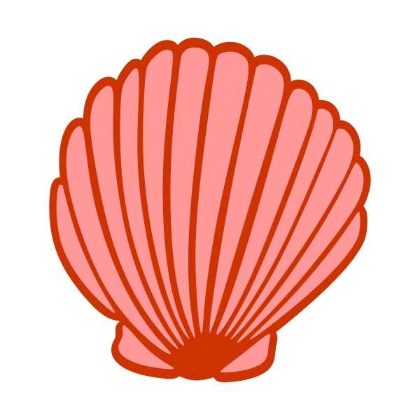 600x600 Red Clipart Seashell