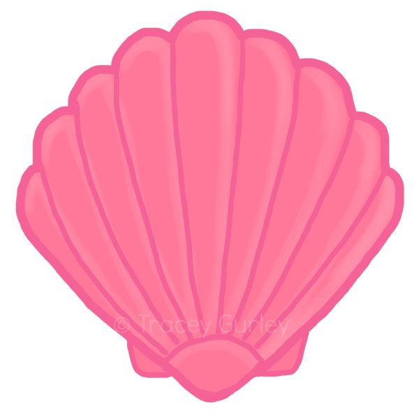600x600 Coral Clipart Pink Seashell