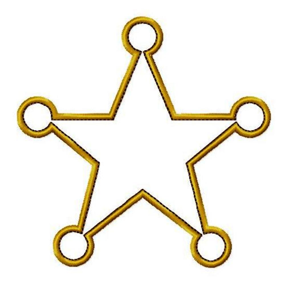 1000x998 Cowgirl clipart sheriff star
