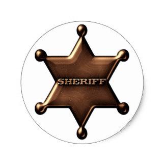 324x324 Sheriff Badge Stickers Zazzle.co.uk