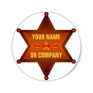 324x324 Sheriff Badge Stickers Zazzle