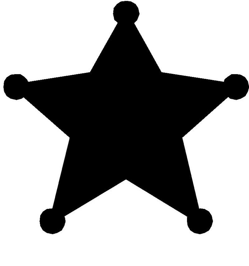 800x857 Sheriff star clipart