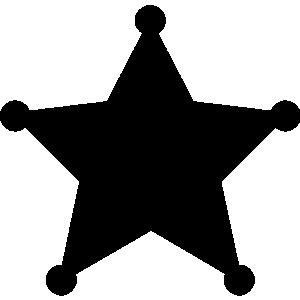 300x300 Star clipart sherrif