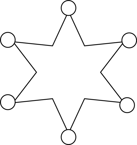 473x500 Western clipart sheriff badge