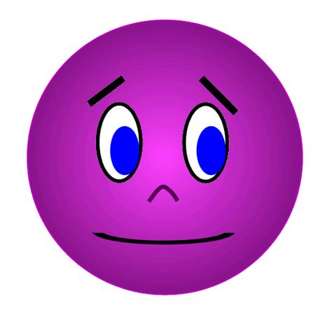 474x443 Purple Smiley Face Purple Face Anxious Unsure Photo