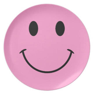 324x324 Smiley Face Plates Zazzle