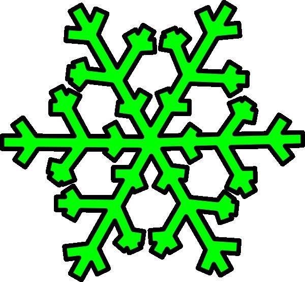 600x554 Green Snowflake Clip Art