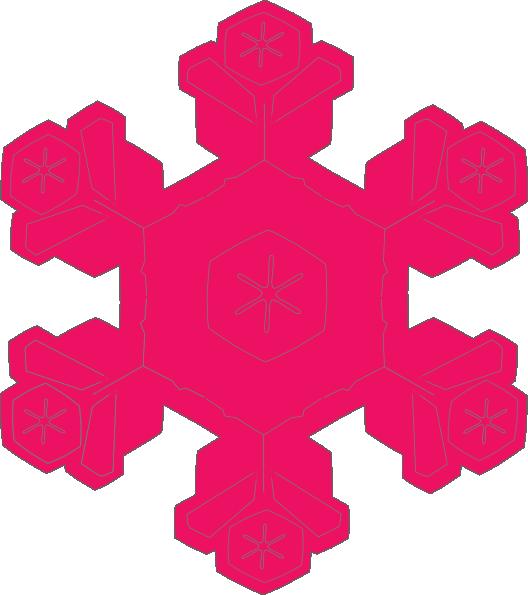 528x595 Pink Snowflake Clip Art