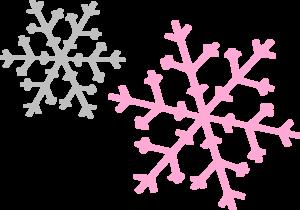300x210 Silver Pink Snowflake Clip Art