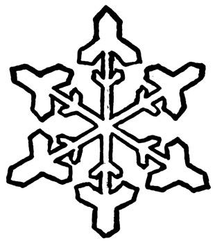 310x350 Snowflake Clipart Black And White Clipart Panda