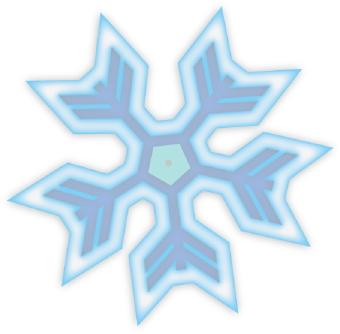 340x334 Snowflake Clipart Blue Snowflake