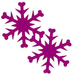 300x300 Snowflake Clipart Purple