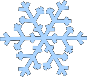 300x267 Top 75 Snowflake Clip Art