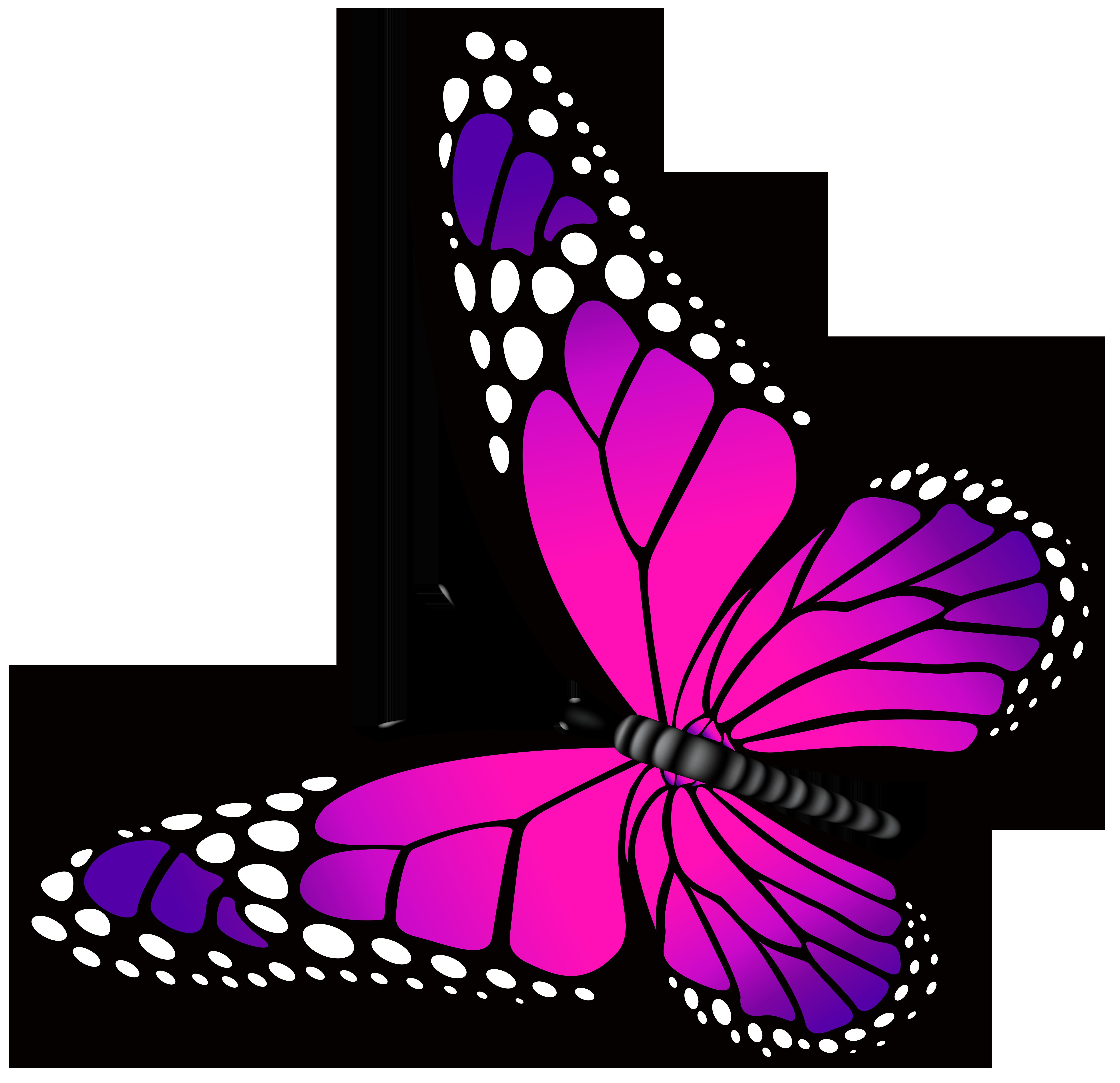 7000x6769 Top 87 Butterfly Clip Art