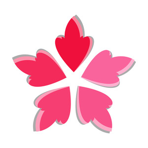 300x300 Decorative Pink Snowflake Royalty Free Stock Image