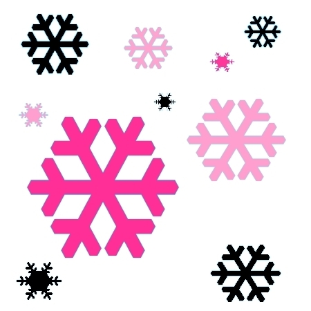450x450 Graphics For Pink Snowflakes Graphics