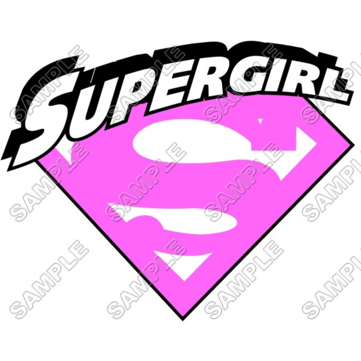 1200x1200 Personalized Iron On Transfers! Supergirl Pink Logo T Shirt Iron