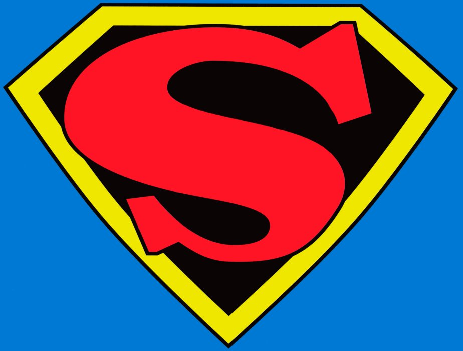 924x702 Superman Logo Blank