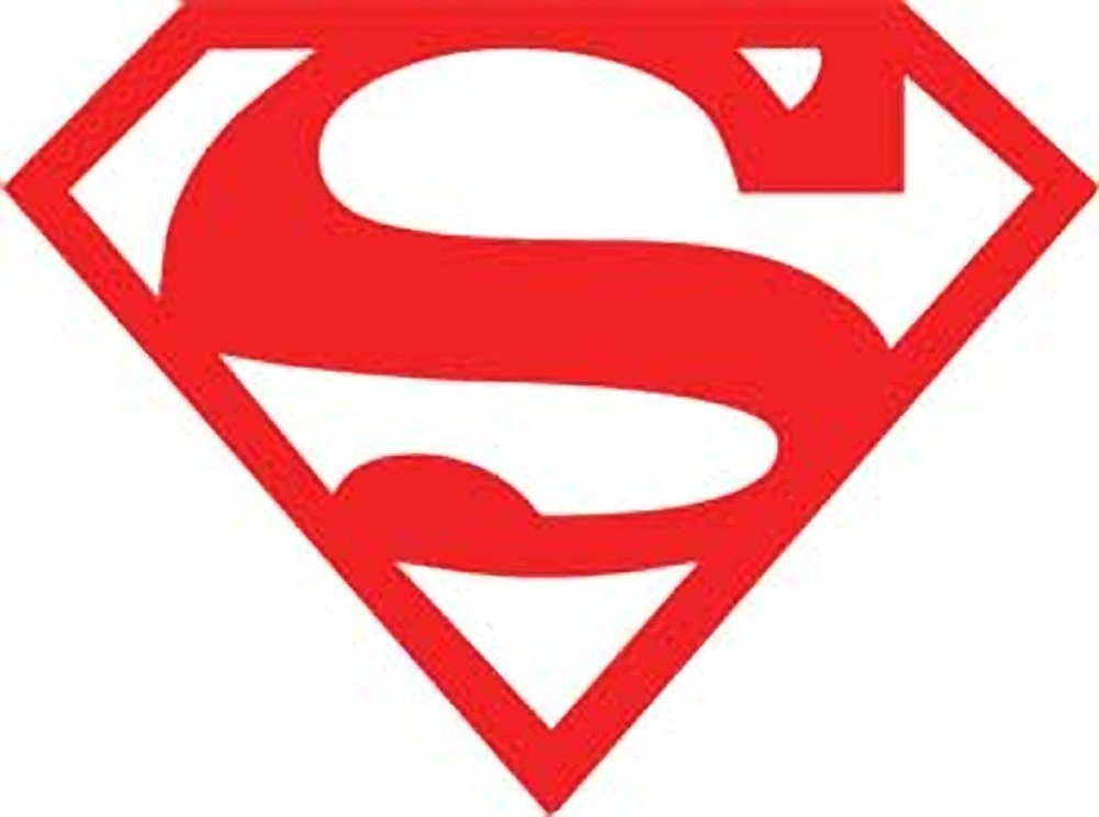1001x744 Superman Red Logo Rub On Sticker