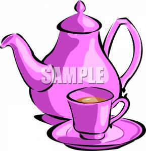 289x300 Tea Kettle And Tea Cup Clipart Image
