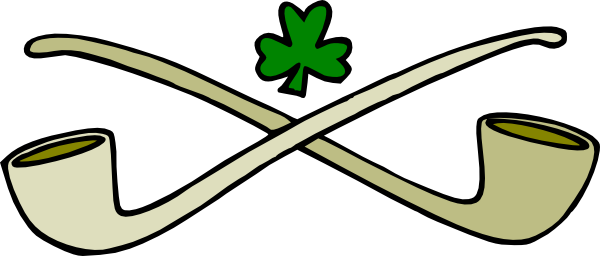 600x256 Pipes And Shamrock Clip Art