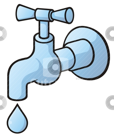 377x450 Tap Water Running Clipart