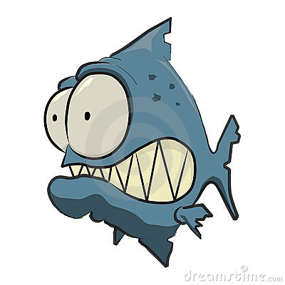 400x400 Blue Piranha Cartoon Cartoon Fish Cartoon