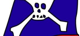 272x125 Free Vector Graphic Pirate Hat, Skull And Crossbones
