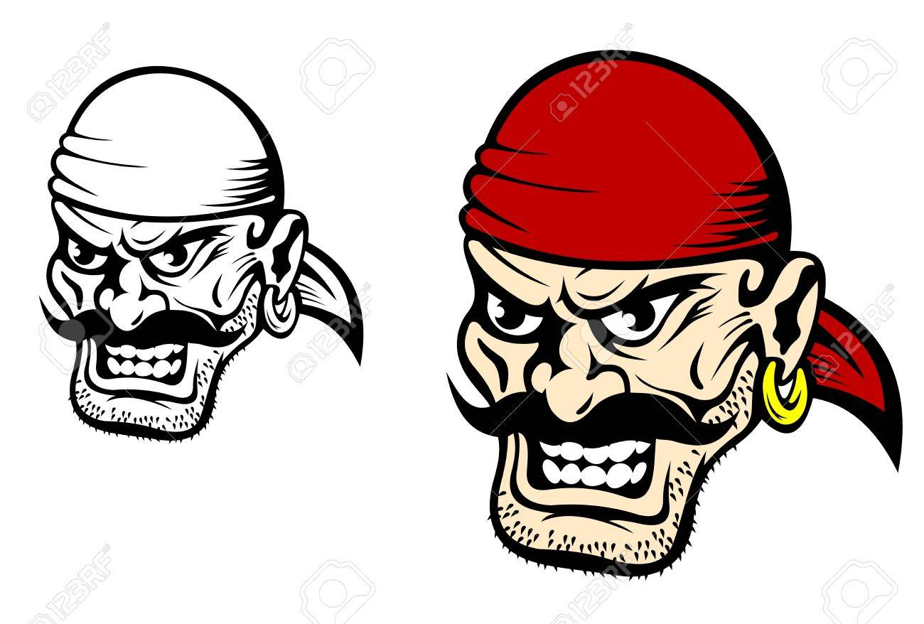 1300x878 Danger Pirate Captain In Cartoon Style For Mascot Royalty Free