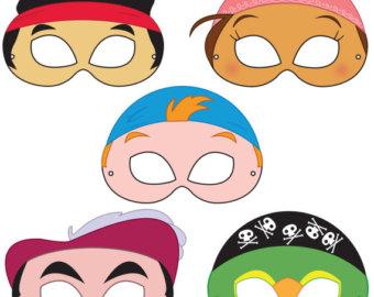 340x270 Paws Printable Character Party Masks, Printable Masks, Dog Masks