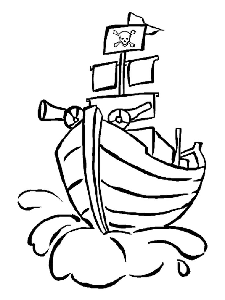736x981 Pirate Flag Coloring Pages Many Interesting Cliparts