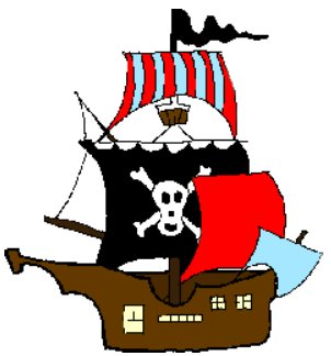 302x324 Pirate Ship Clip Art
